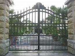 6 gambar pintu pagar 2 pintu  model lipat