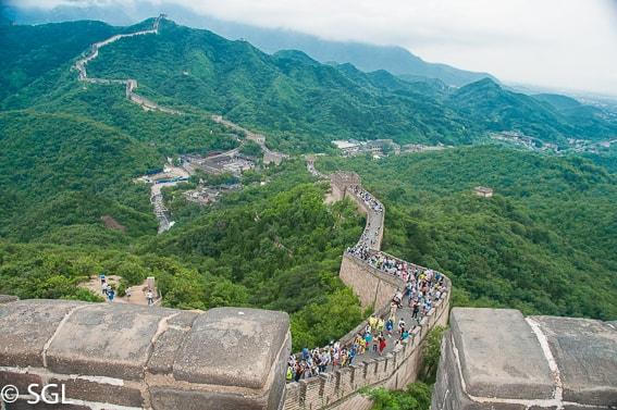 La muralla china. Badaling. China.