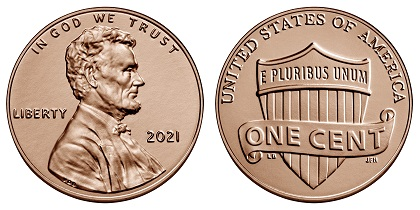 2021 Lincoln Penny Observse and Reverse - Source: U.S. Mint