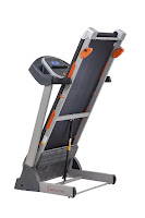 Soft Drop folding deck on Sunny Health & Fitness SF-T7635 Treadmill