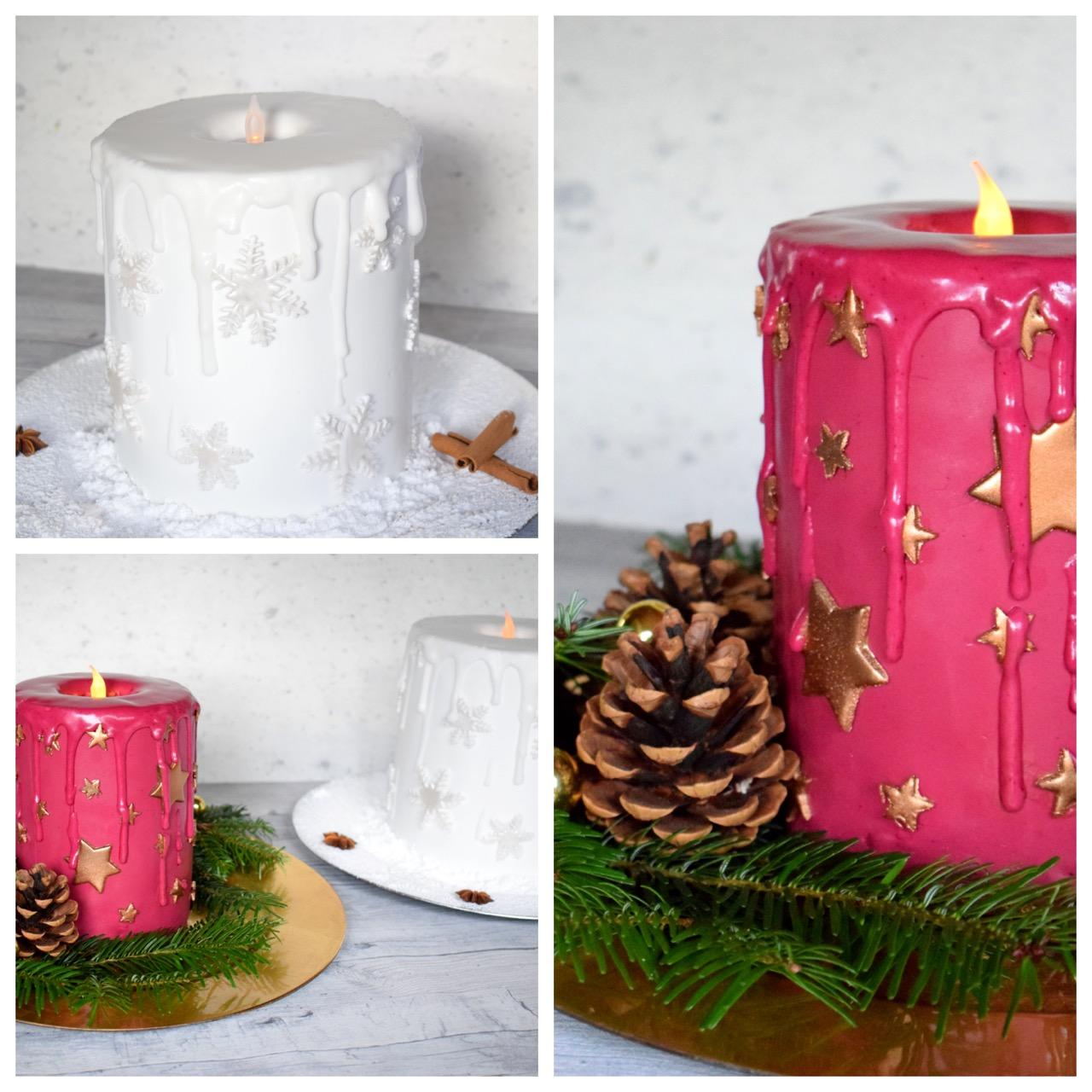 Motivtorte Kerze - Adventstorte von Purzel Cake
