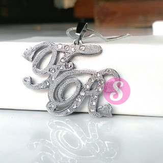 kalung nama monel silver grafir - fr