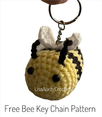 bee crochet pattern bumble bee crochet keyring charm