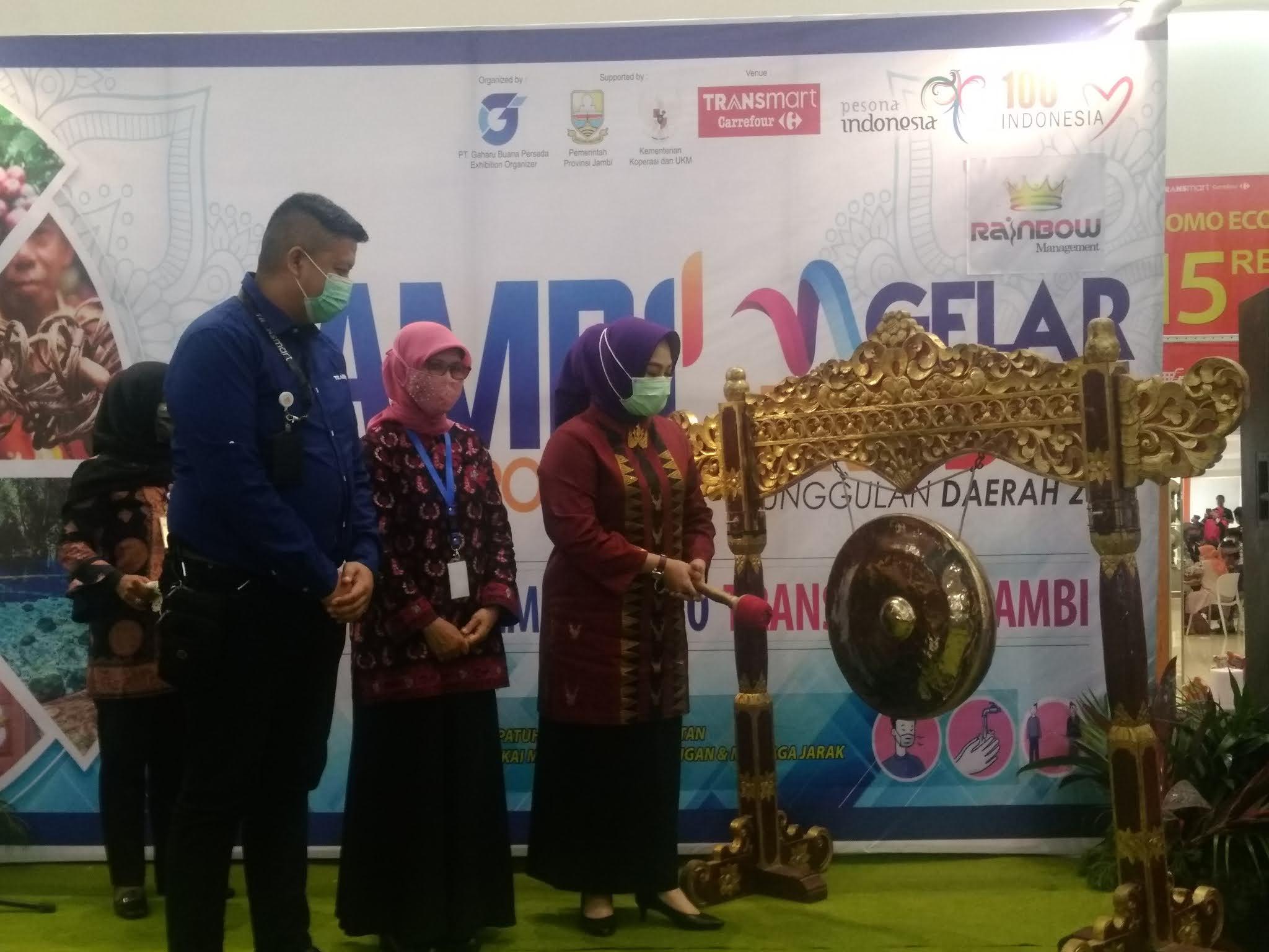 Ibu Pjs Gubernur Provinsi Jambi Secara Resmi Membuka Pameran Jambi Expo