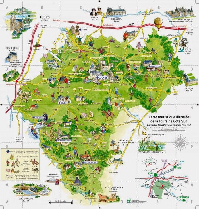 Harta Valea Loarei Harta