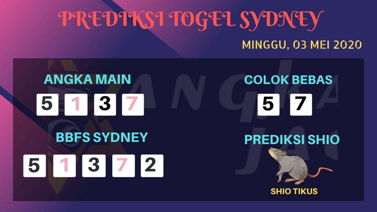 Prediksi Togel Sydney 03 Mei 2020 - Prediksi Angka Jadi