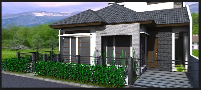 Model pagar dan rumah minimalis