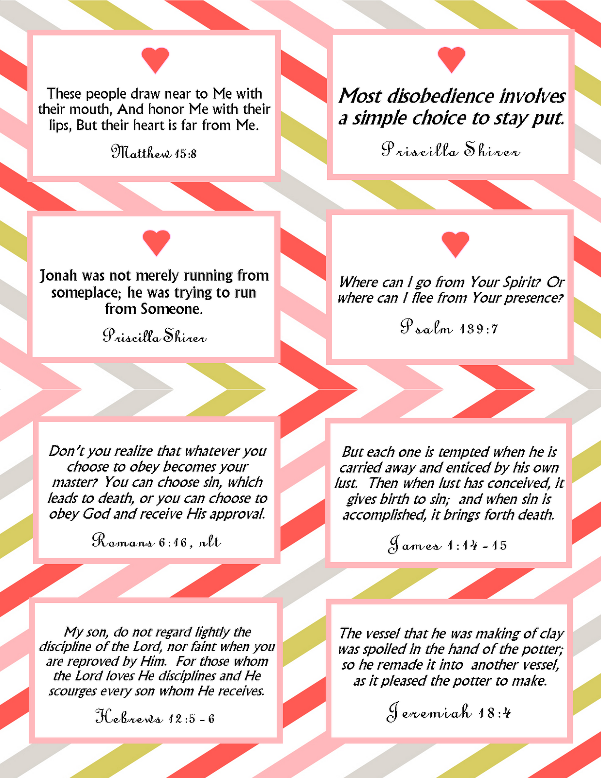 The Blogging Pastors Wife Printable Memory Verse Cards