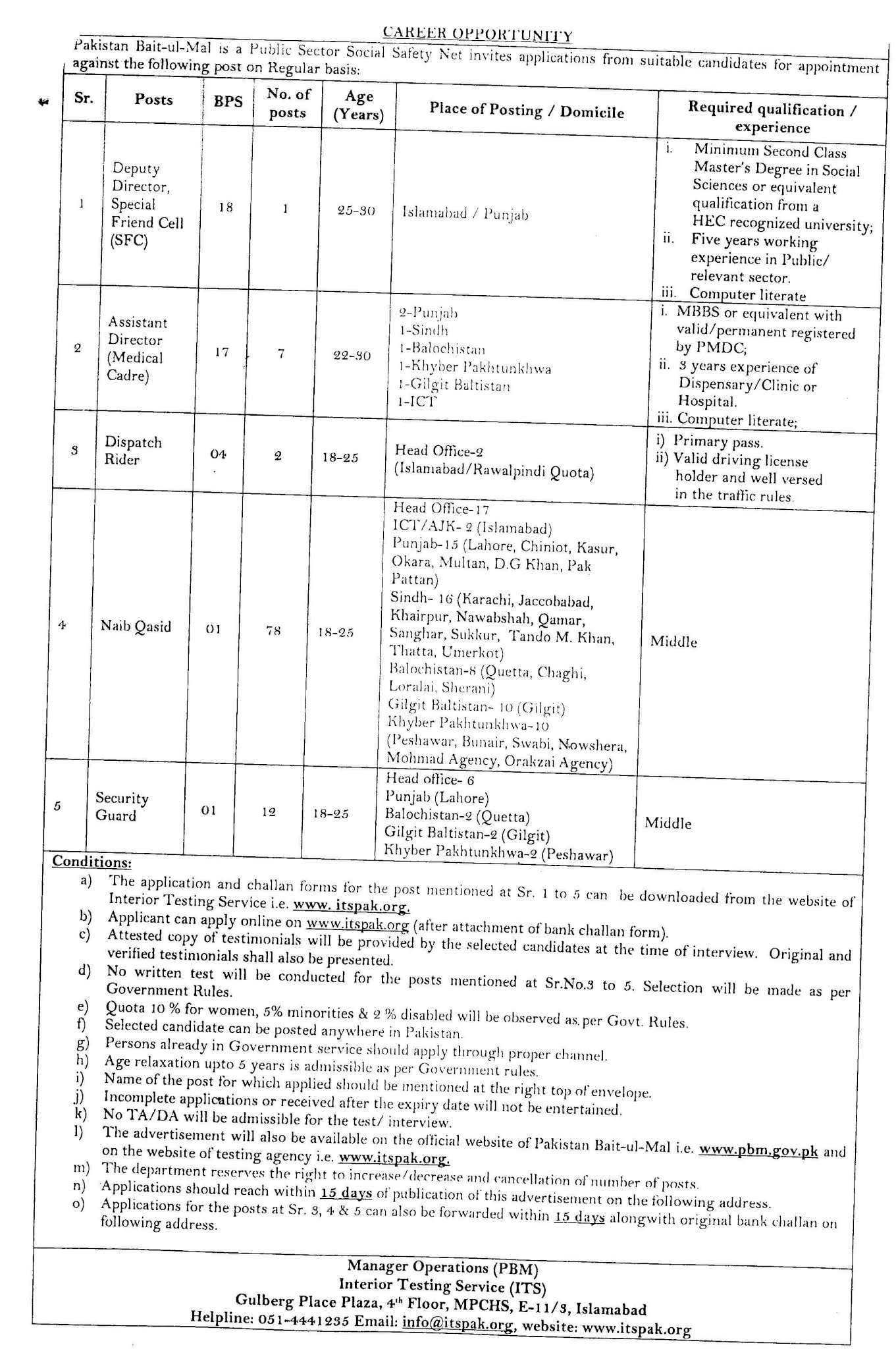 Baitulmal Jobs 2020 - www.pbm.gov.pk jobs 2020
