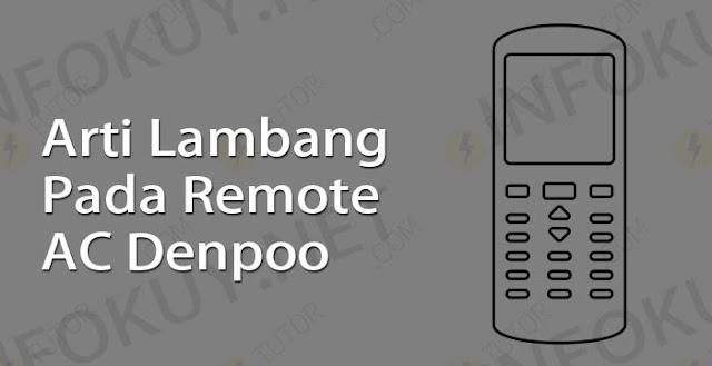 arti lambang pada remote ac denpoo