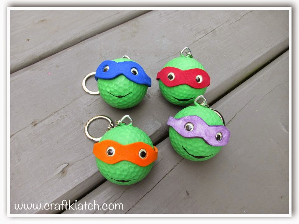 Craft Klatch R DIY Teenage Mutant Ninja Turtles Backpack Charms Or