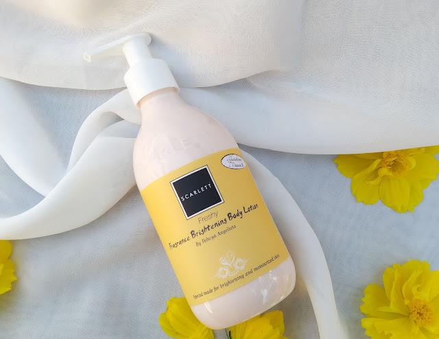 scarlett body lotion freshy berwarna kuning