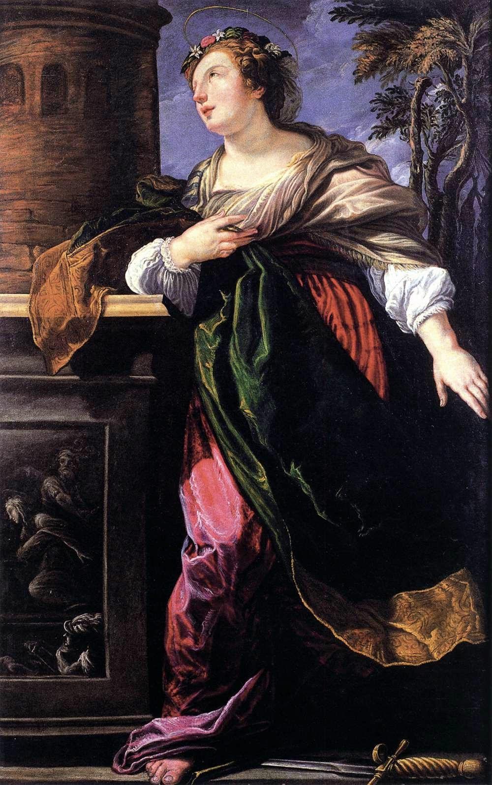 Sainte Barbara (1610), Lucrina Fetti
