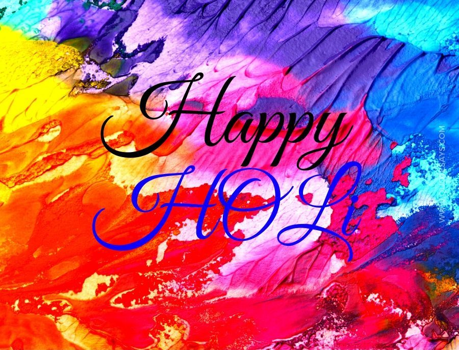 Happy Holi Wishing Photo