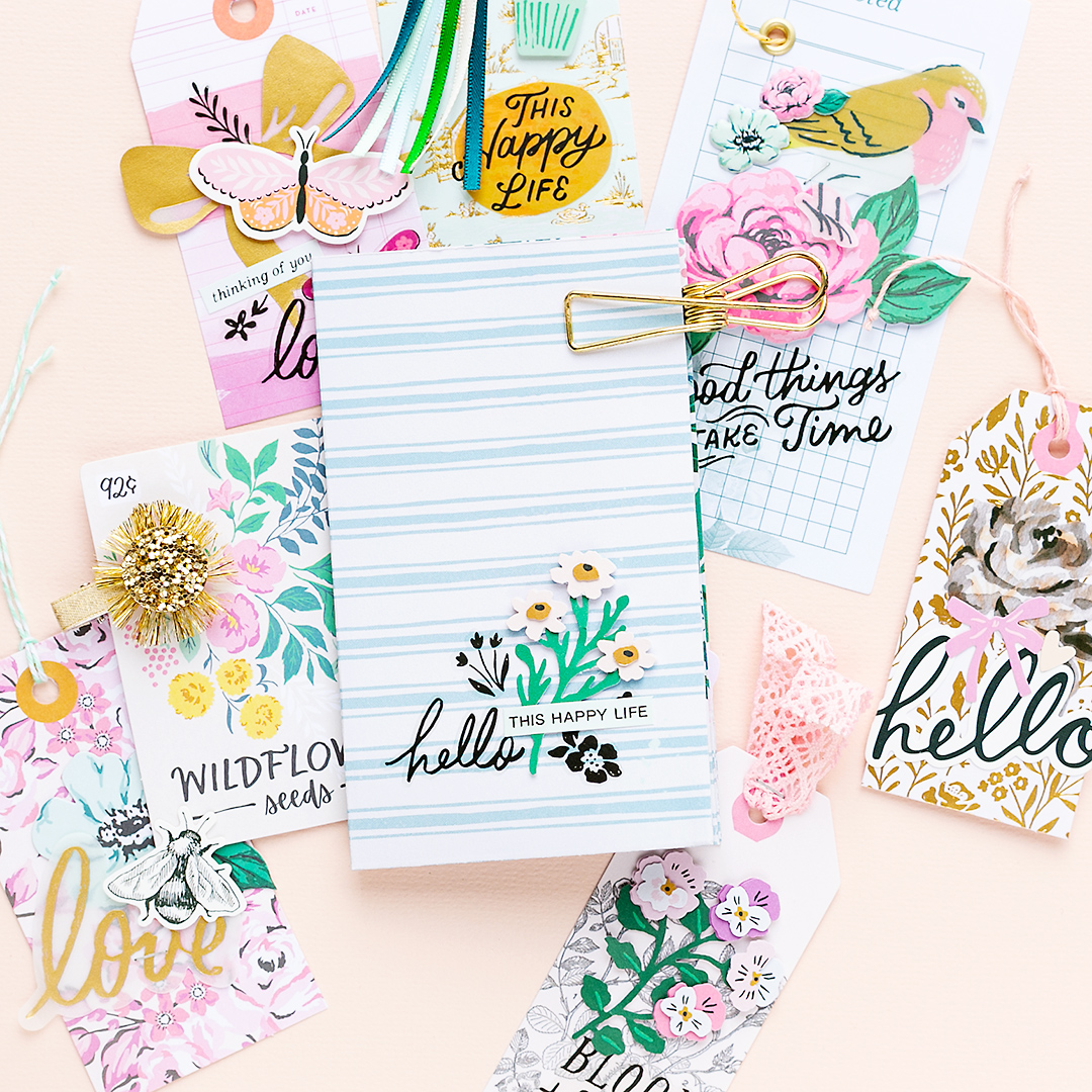 Lovely floral gift tags for giftwrapping and cardmaking Maggie Holmes Crate Paper Garden Party