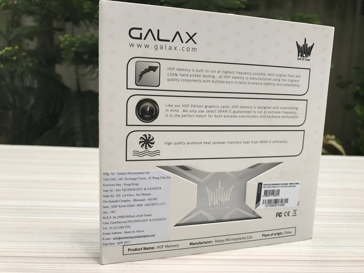 GALAX HOF 16GB 3600Mhz Review ~ Computers and More   Reviews