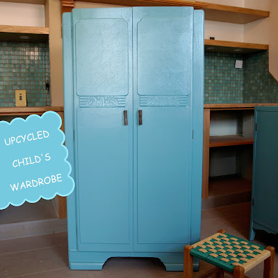 Vintage Upcycled Child's Wardrobe in Turquoise
