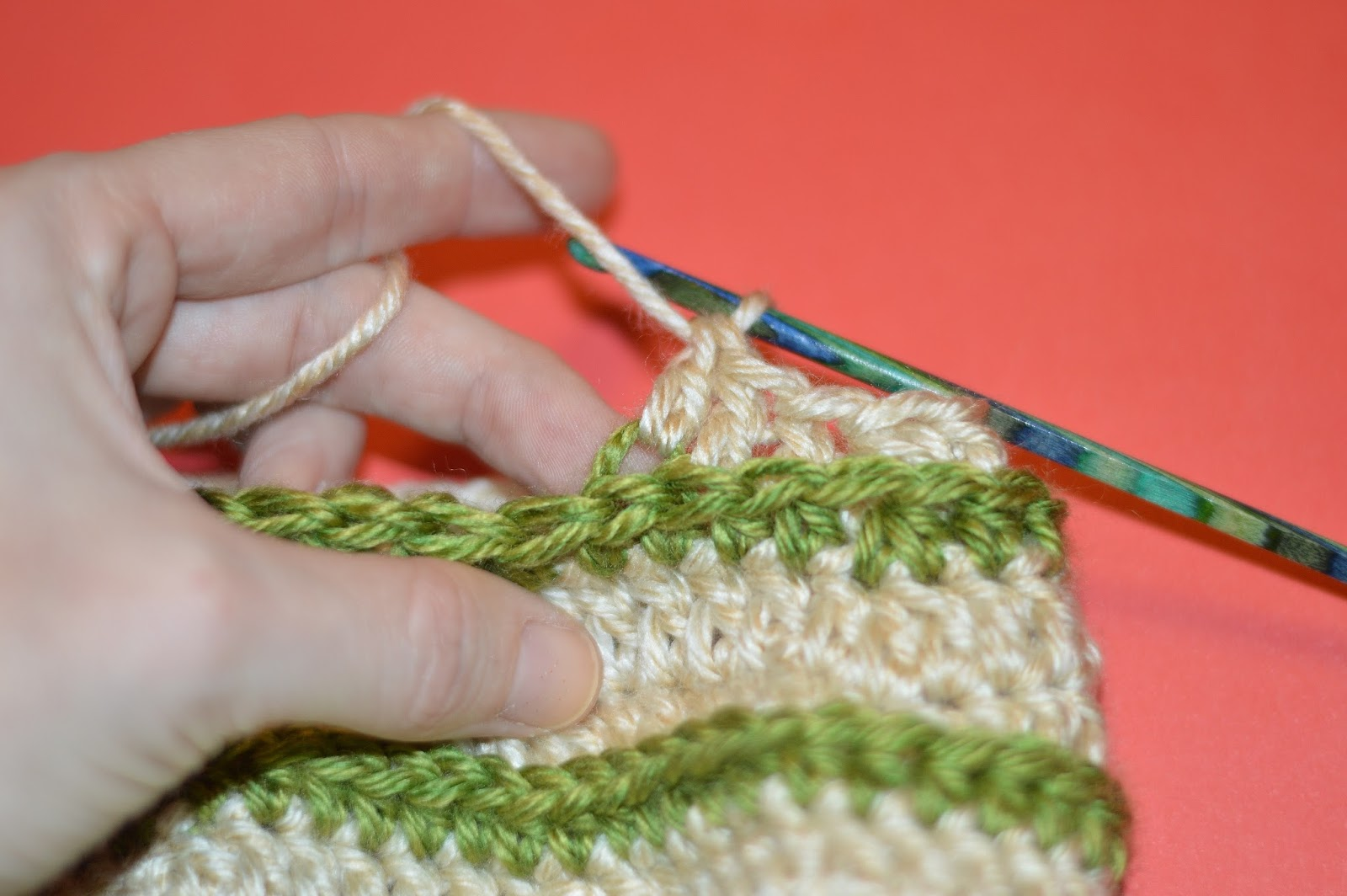 With Alex: How To Crochet Into The 3rd Loop Of A Half Double Crochet