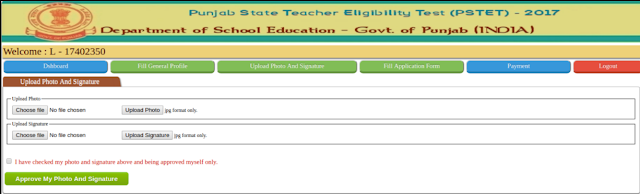 Punjab TET 2018 Application Form