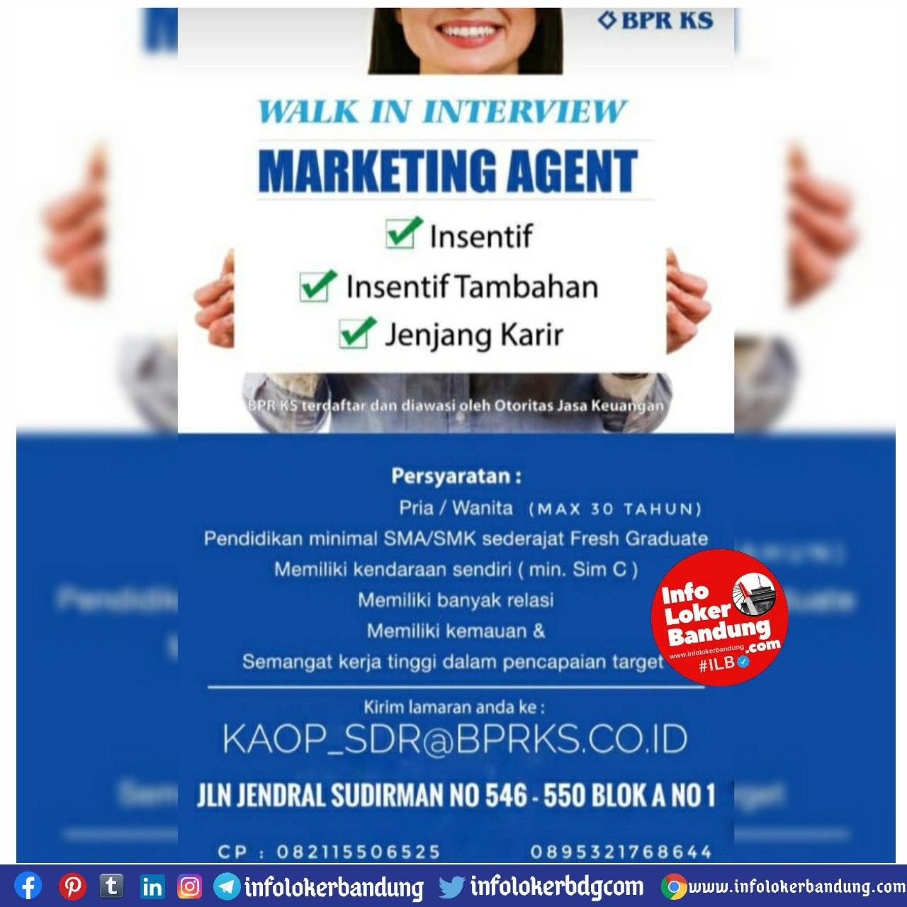 Lowongan Kerja BPR KS Bandung September 2020