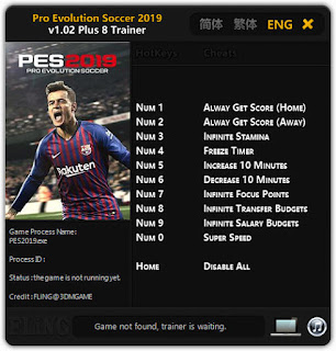 Pro Evolution Soccer (PES) 2019 Trainer