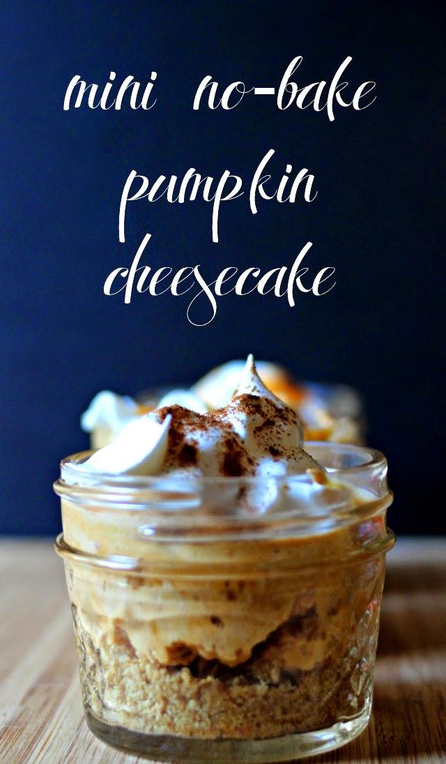 Mini No-Bake Pumpkin Cheesecake in a Jar  #TastetheSeason #AD