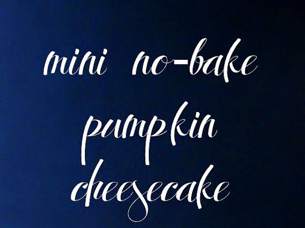 Mini No-Bake Pumpkin Cheesecake in a Jar