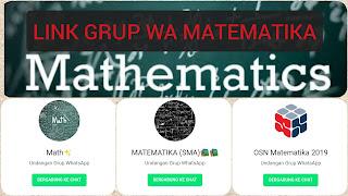 Group whatsapp mathematics links