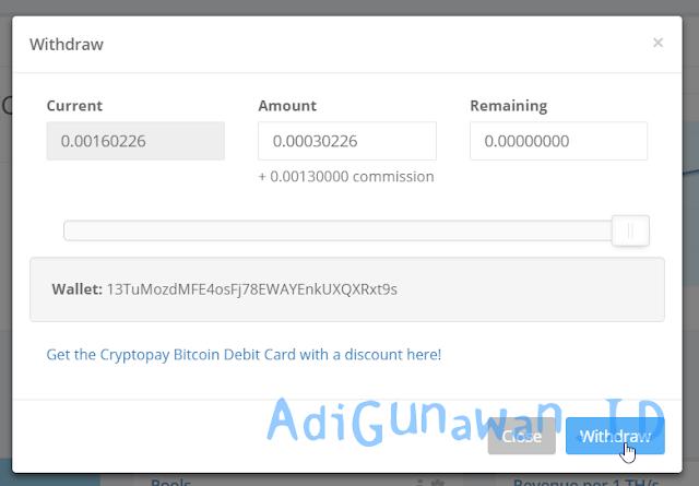 Cara payout bitcoin di hasflare