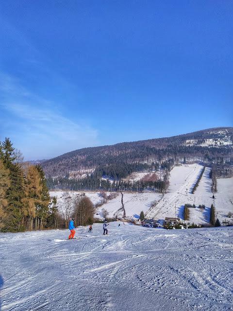 ośla łączka w Rzeczce, Góry Sowie, narty, zima