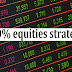 What is 100percent equities strategy?