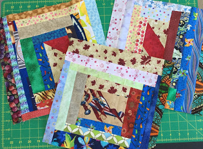 Three more slab blocks for Canada's Big Quilt Bee