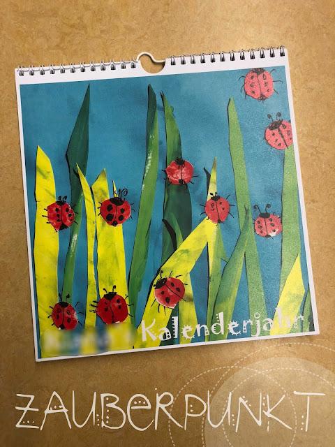 Jahreskalender -DIY Kindergartenkinder, kreativ, basteln, Kindergarten, selbstgemacht, bunt