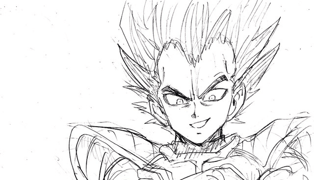 Sketsa Vegeta Dragon Ball