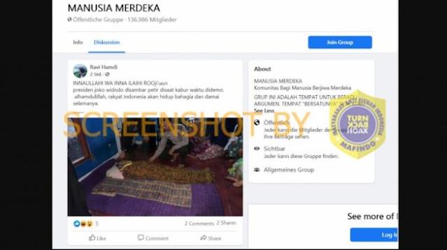 Cek Fakta: Benarkah Presiden Jokowi Kabur dari Demo dan Tersambar Petir?