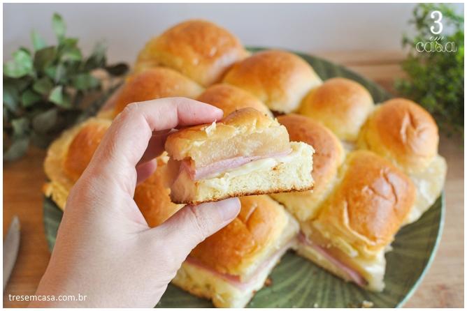 receita de sanduíche de queijo, presunto e abacaxi