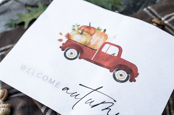 Welcome autumn free printable