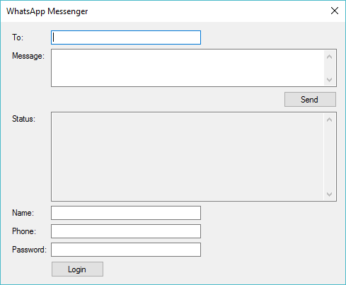 whatsapp messenger in c#