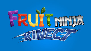 Fruit Ninja Logo Blue Background Colorful Text HD Wallpaper
