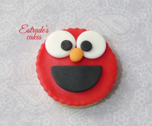 galletas de Barrio Sesamo - Elmo