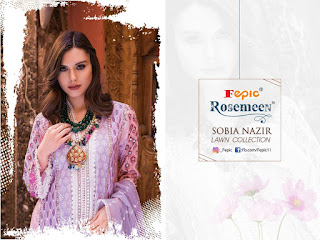 Fepic Rosemeen Sobia Nazir Lawn Collection pakistani Suits