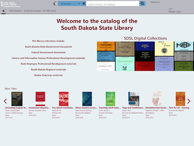 Welcome to the catalog of the South Dakota State Library
