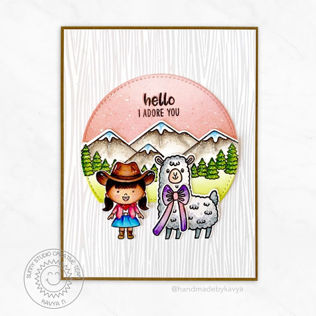 Sunny Studio Stamps: Lovable Llama Little Buckaroo Country Scenes Friendship Card by Kavya