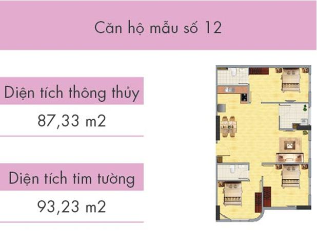 Căn hộ số 12 tòa CT1B