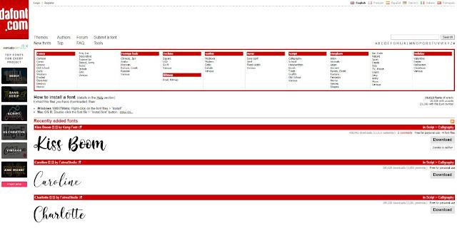 interface dafont.com