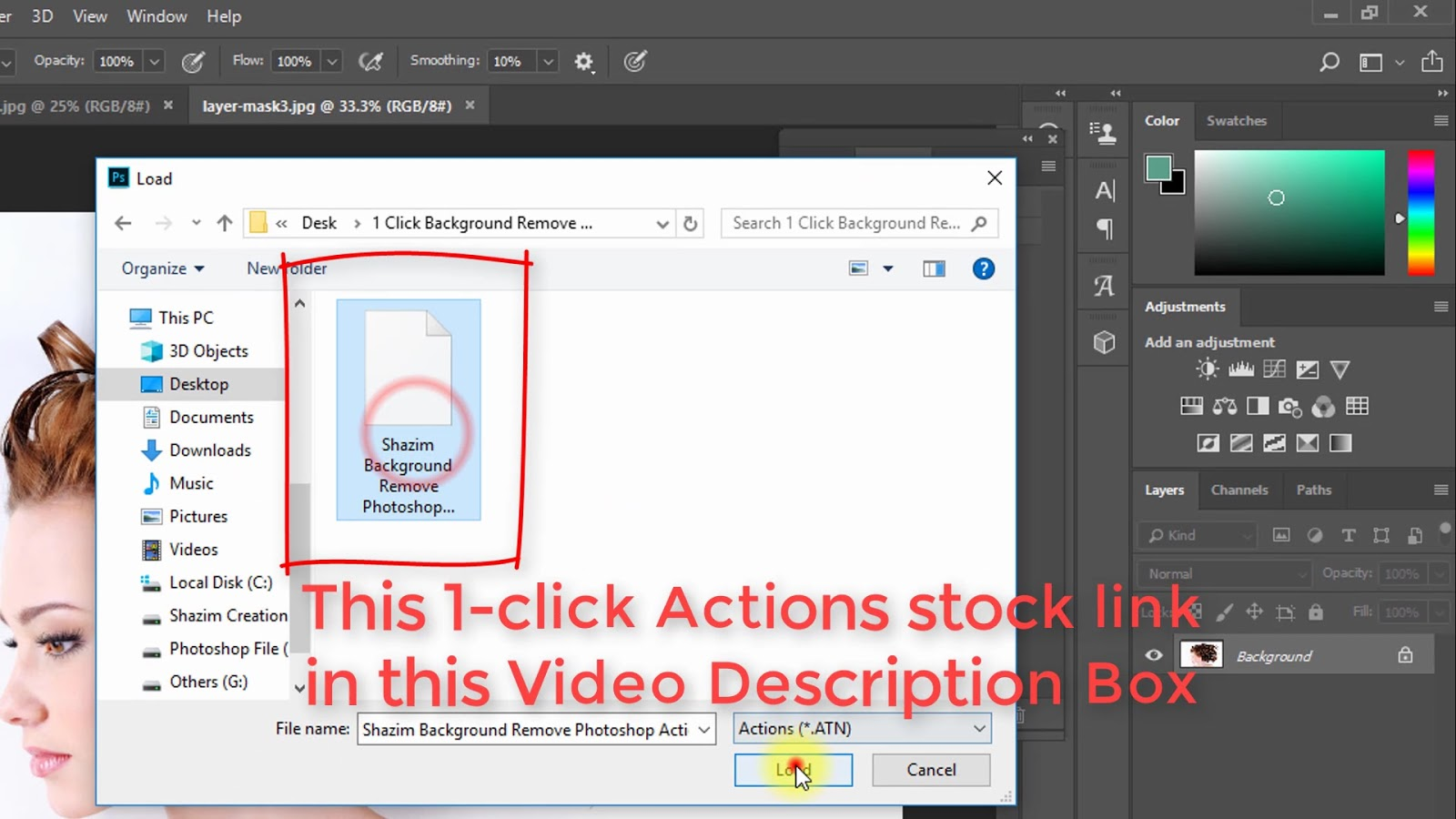 1 click Automatic Background Remove Photoshop Actions 3