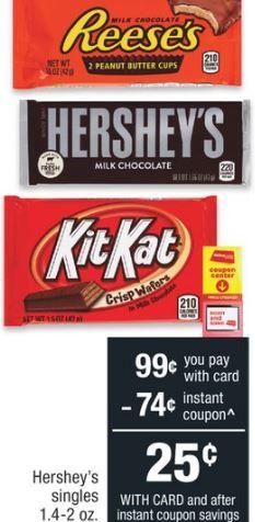 Hershey's Snack Mix CVS Deal $0.24 - 8/4-8/10