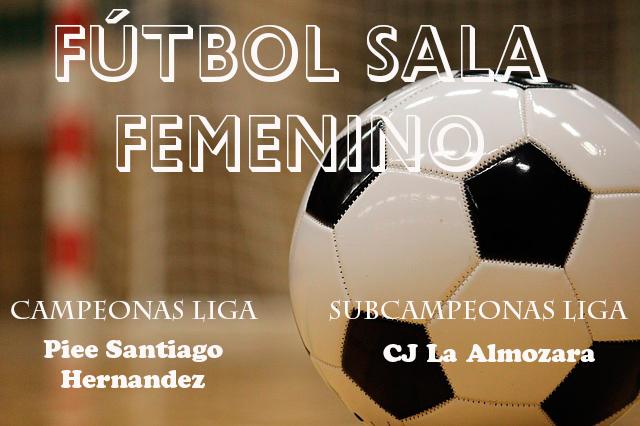 FÚTBOL SALA FEMENINO: CAMPEONAS Y SUBCAMPEONAS LIGA JOVEN TEMPORADA 2016/2017