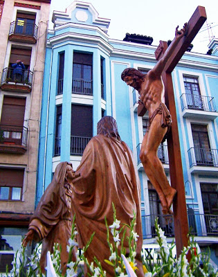 Paso de la Tercera Palabra. Cofradía de las Siete Palabras. León. Foto G. Márquez.