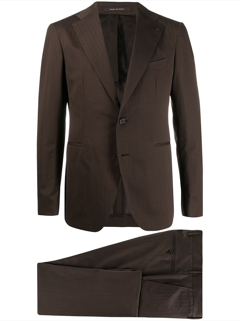 Complete brown suit, by Tagliatore